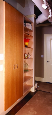 Factory to Town House Conversion, Custom Hallway Storage, Wooster Square, New Haven