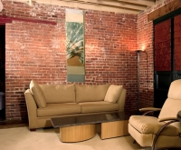 Factory to Town House Conversion, Living Room, Wooster Square, New Haven